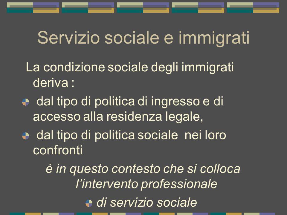 Servizio sociale e immigrati