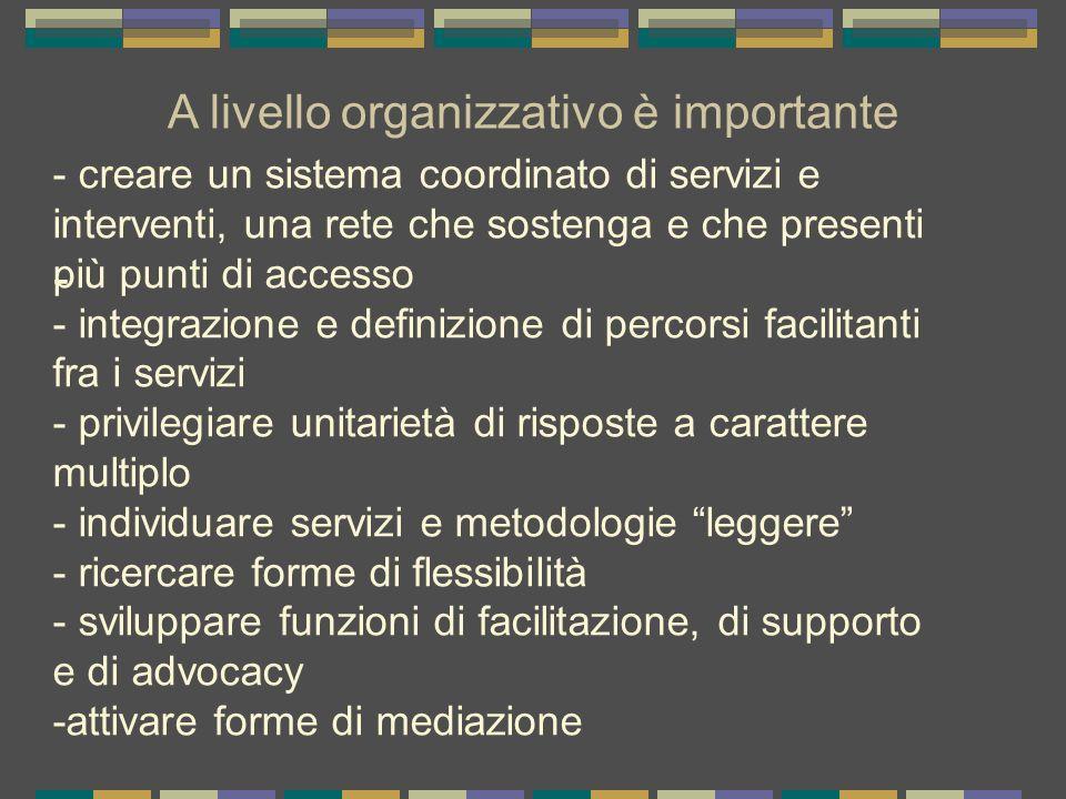 A livello organizzativo è importante