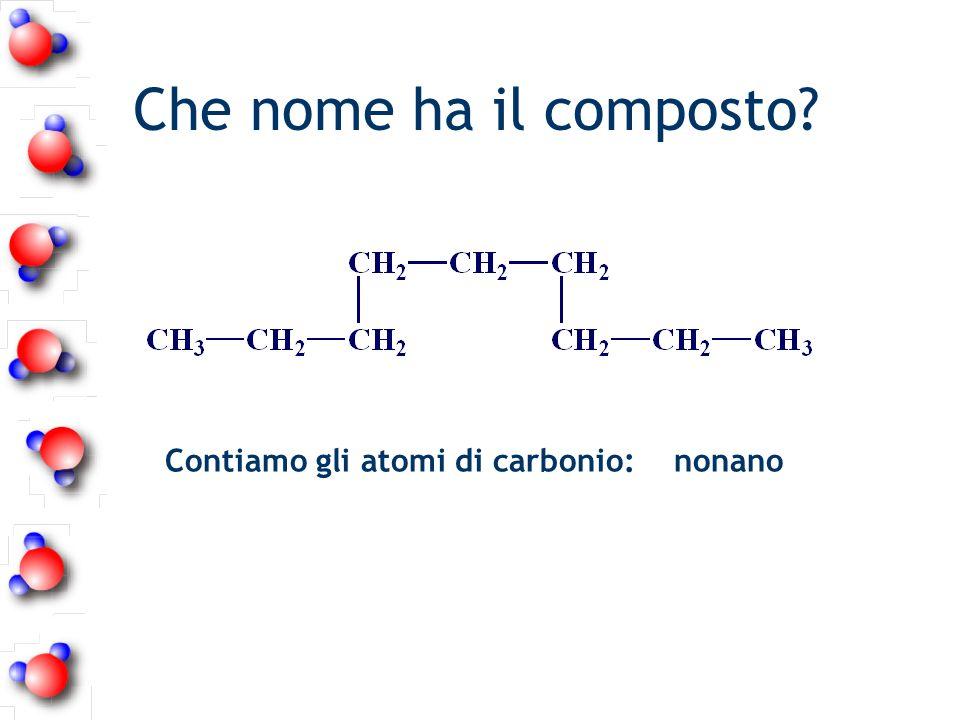Che nome ha il composto Contiamo gli atomi di carbonio: nonano