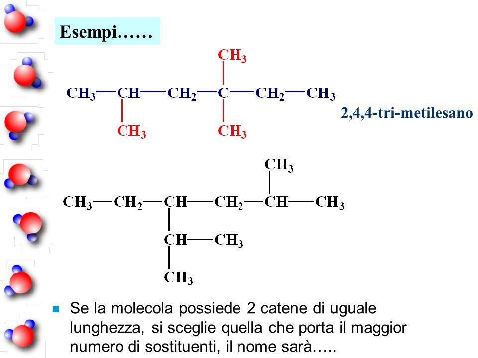 Esempi…… 2,4,4-tri-metilesano