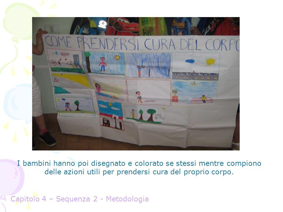 I bambini hanno poi disegnato e colorato se stessi mentre compiono delle azioni utili per prendersi cura del proprio corpo.