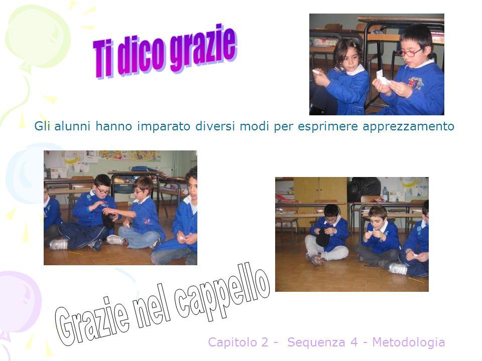 Gli alunni hanno imparato diversi modi per esprimere apprezzamento