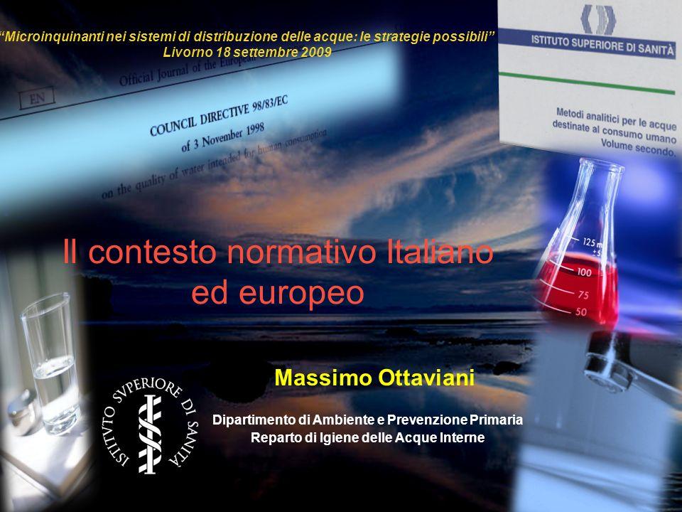 Il contesto normativo Italiano ed europeo