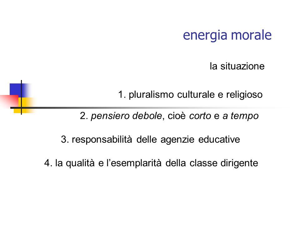 energia morale la situazione 1. pluralismo culturale e religioso