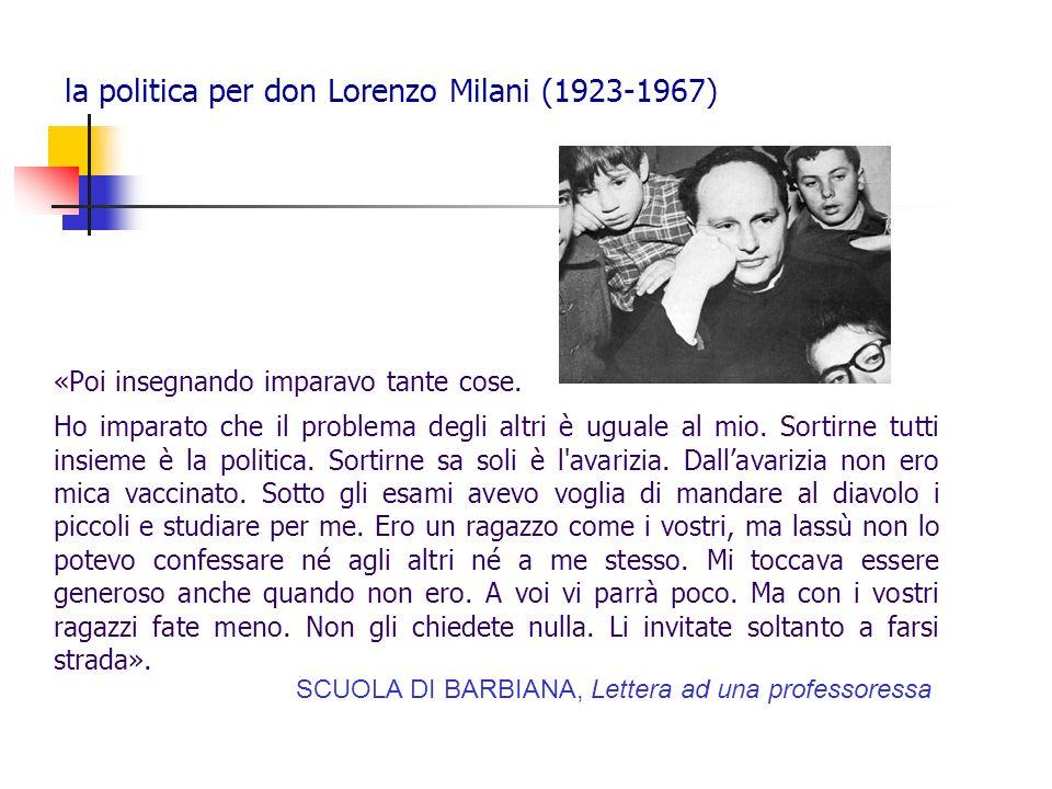 la politica per don Lorenzo Milani (1923-1967)