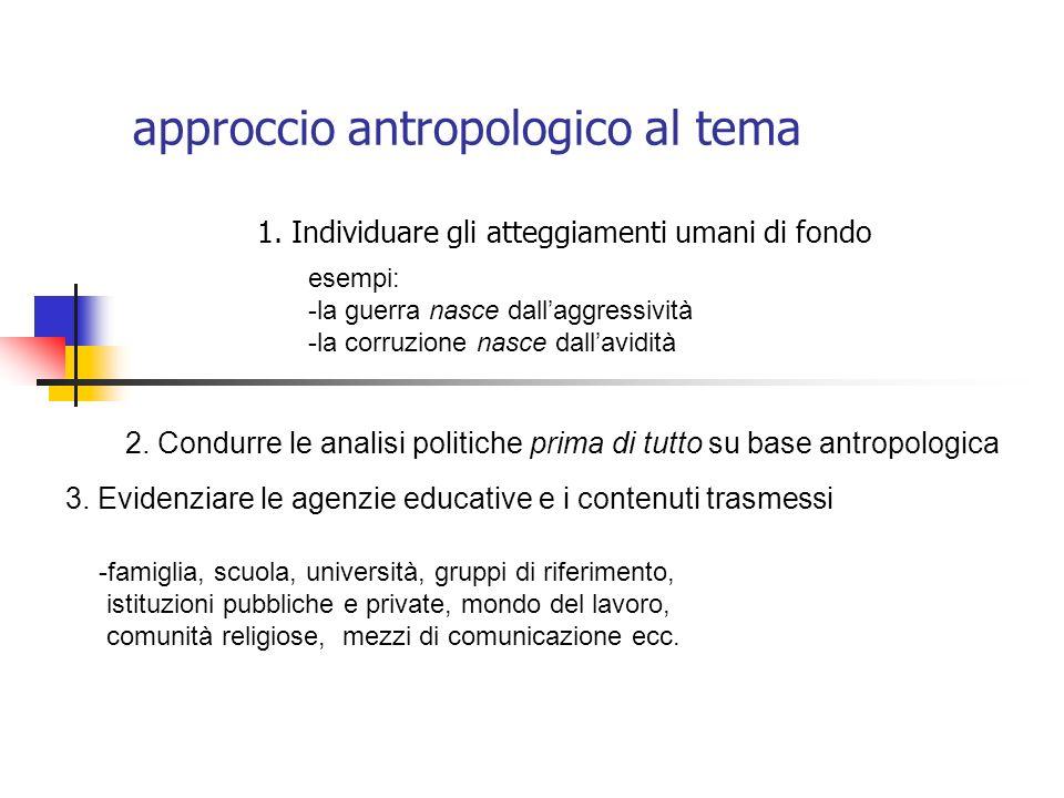 approccio antropologico al tema