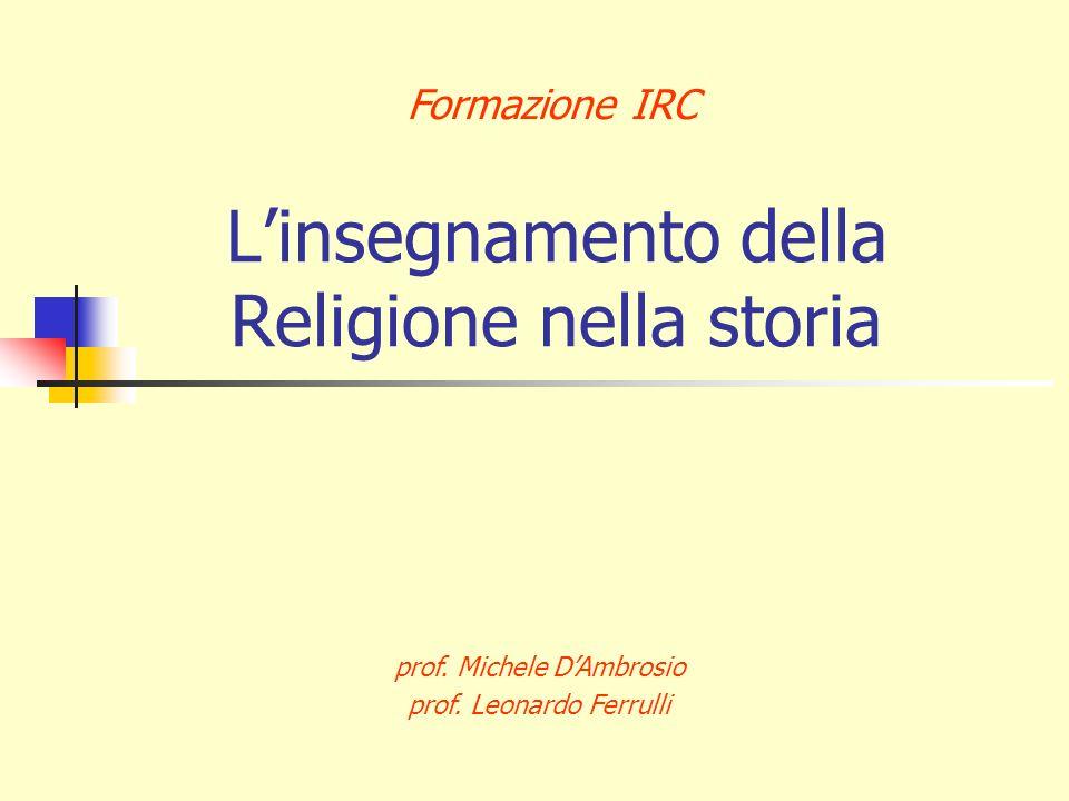L'insegnamento della Religione nella storia