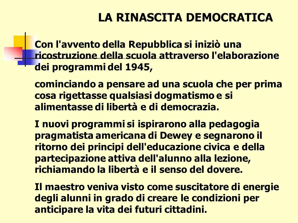 LA RINASCITA DEMOCRATICA