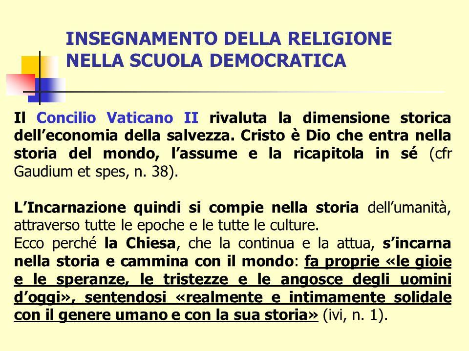 INSEGNAMENTO DELLA RELIGIONE NELLA SCUOLA DEMOCRATICA