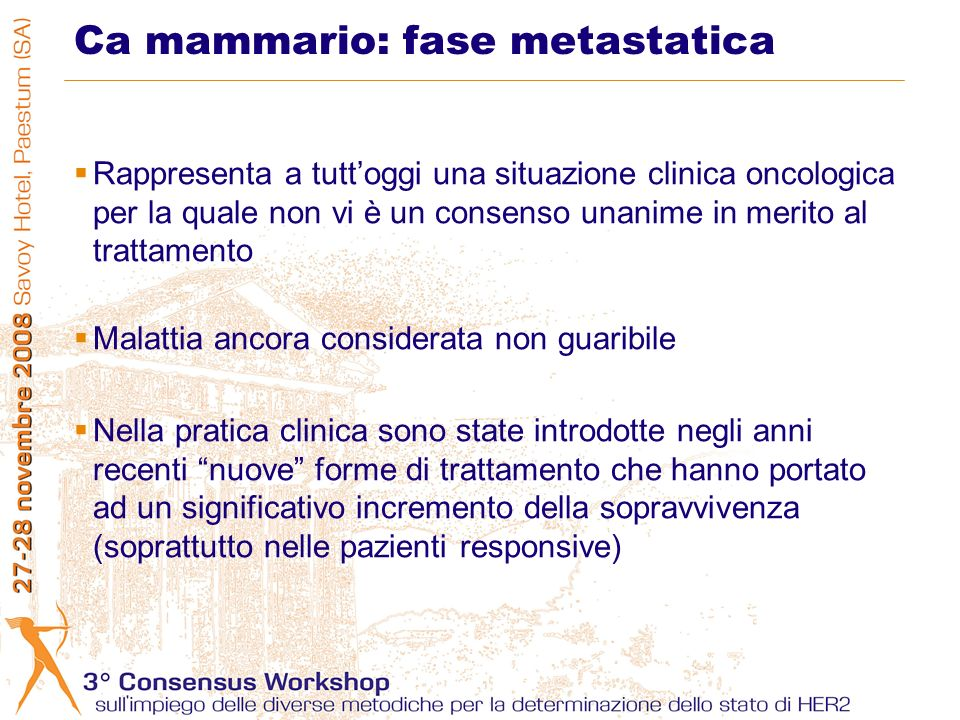Ca mammario: fase metastatica