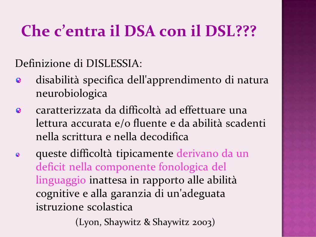 Che c'entra il DSA con il DSL