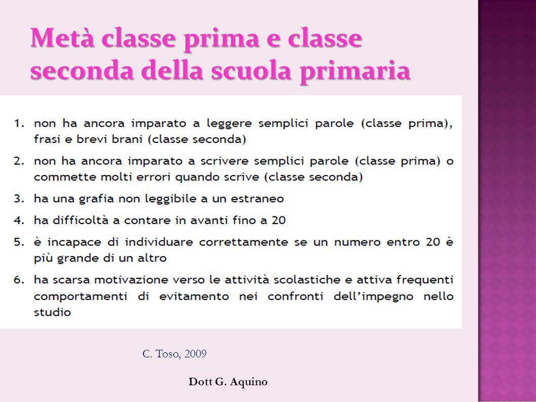 Metà classe prima e classe seconda della scuola primaria