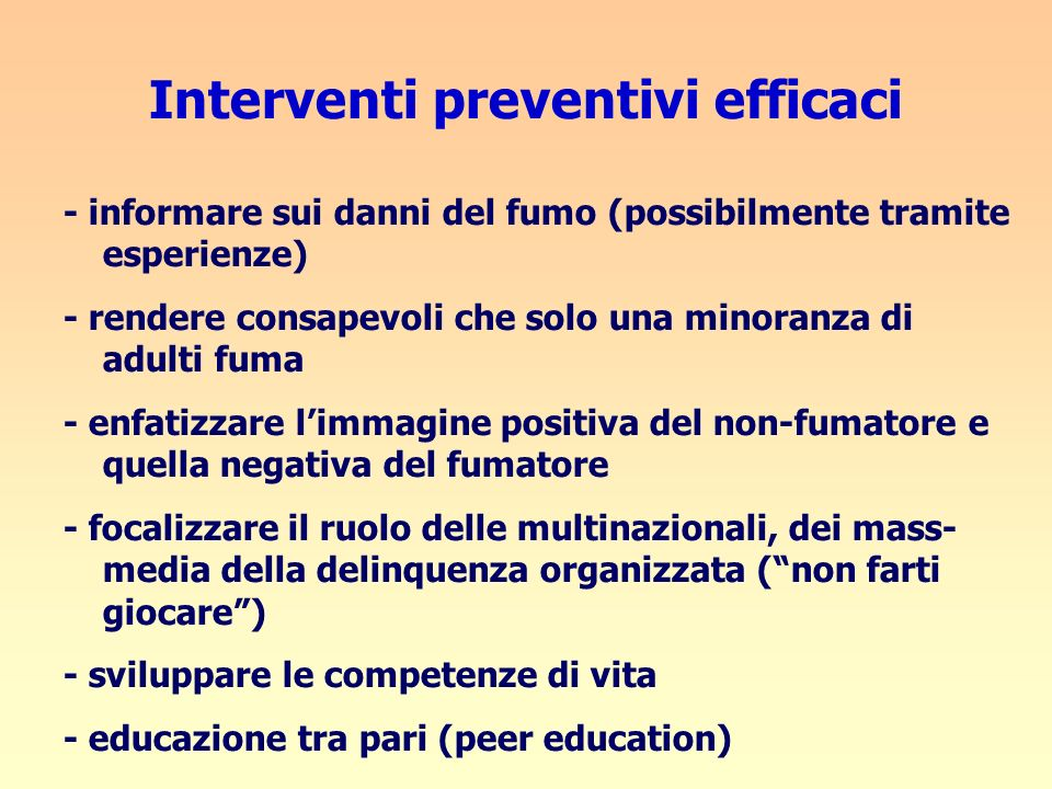 Interventi preventivi efficaci