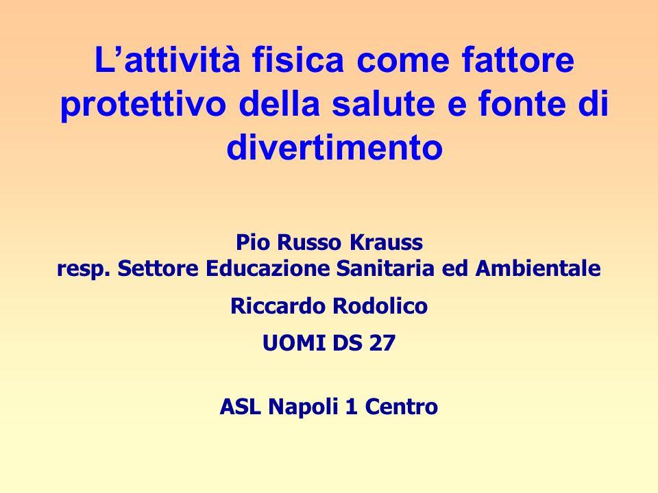 Pio Russo Krauss resp. Settore Educazione Sanitaria ed Ambientale