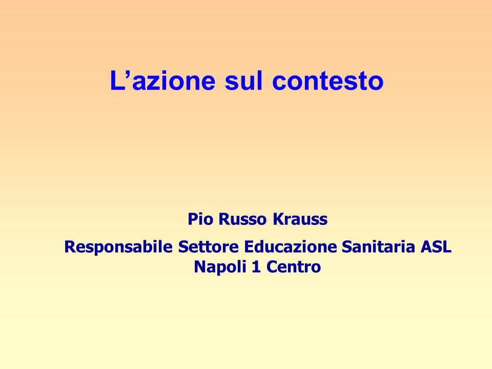 Responsabile Settore Educazione Sanitaria ASL Napoli 1 Centro
