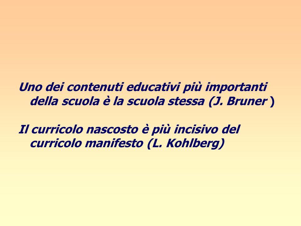 Uno dei contenuti educativi più importanti della scuola è la scuola stessa (J. Bruner )