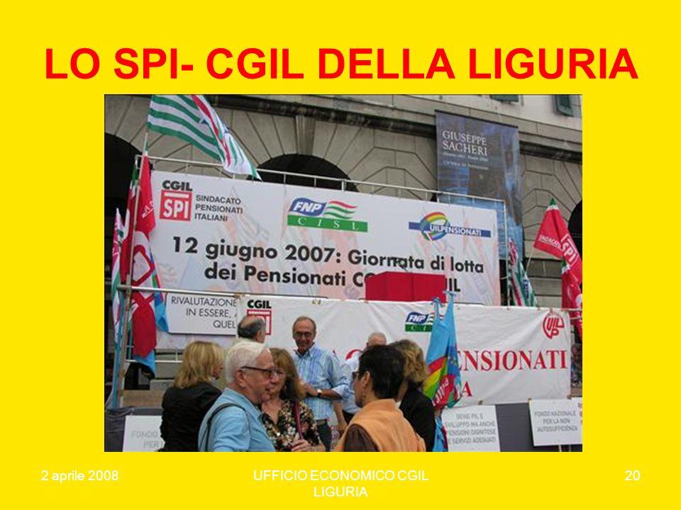 LO SPI- CGIL DELLA LIGURIA