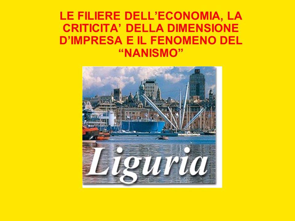 LE FILIERE DELL'ECONOMIA, LA CRITICITA' DELLA DIMENSIONE D'IMPRESA E IL FENOMENO DEL NANISMO