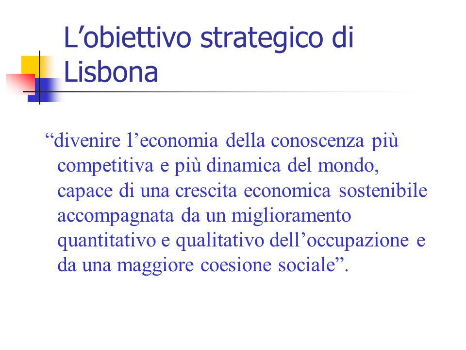L'obiettivo strategico di Lisbona