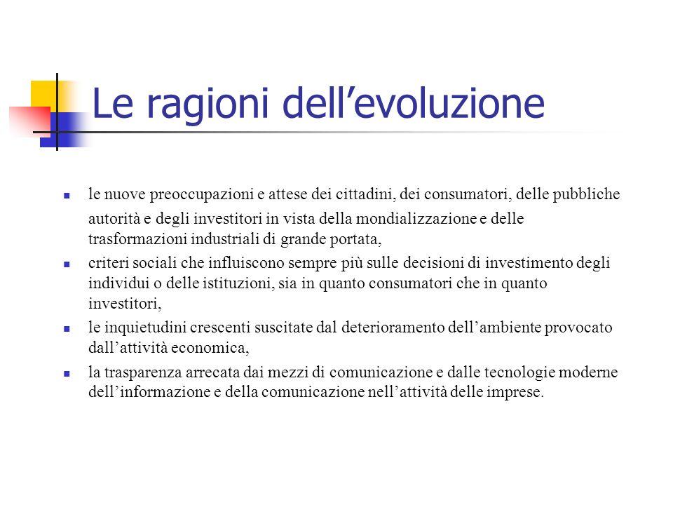 Le ragioni dell'evoluzione