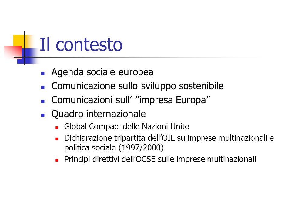 Il contesto Agenda sociale europea