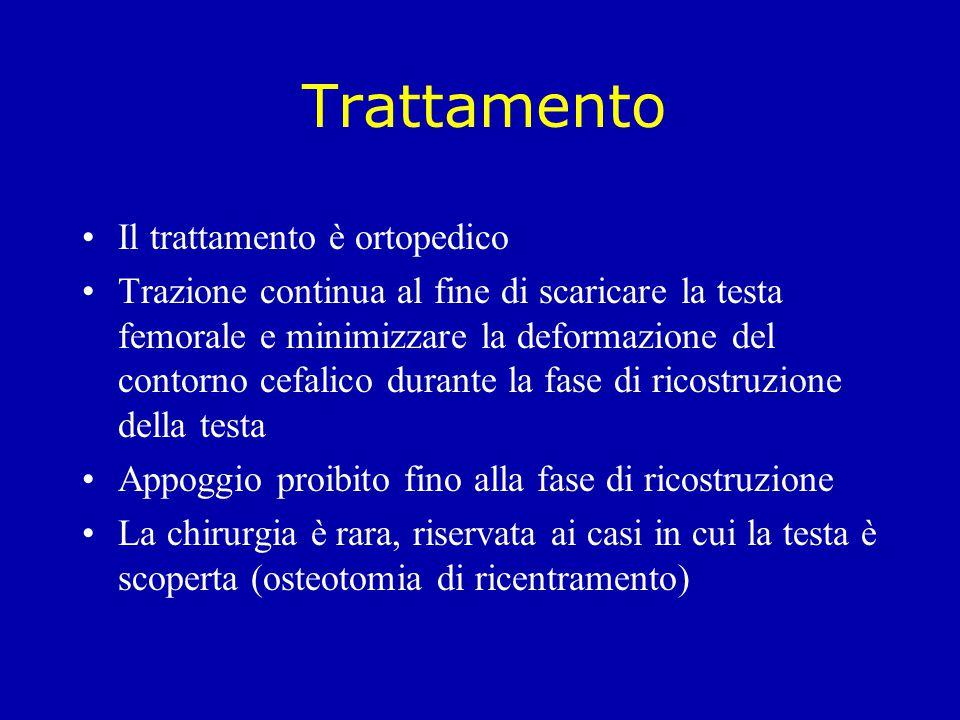 Trattamento Il trattamento è ortopedico