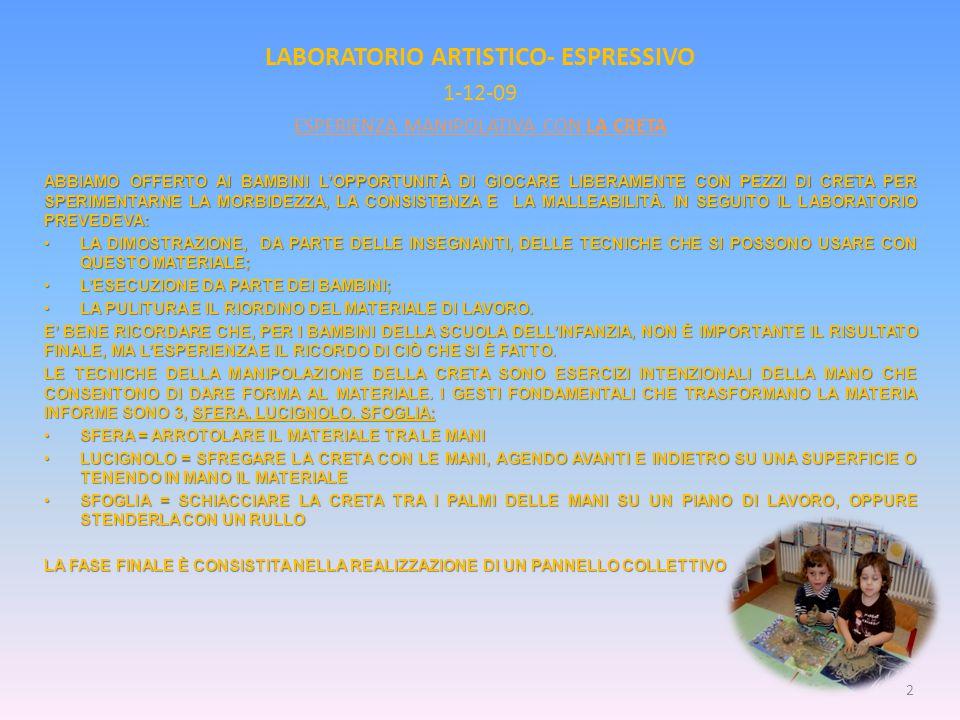 LABORATORIO ARTISTICO- ESPRESSIVO