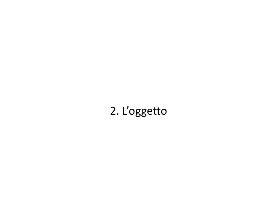 2. L'oggetto