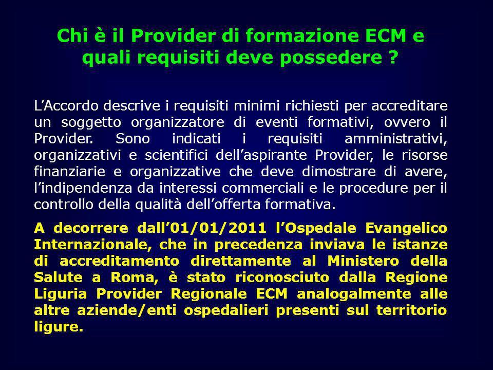 Chi è il Provider di formazione ECM e quali requisiti deve possedere