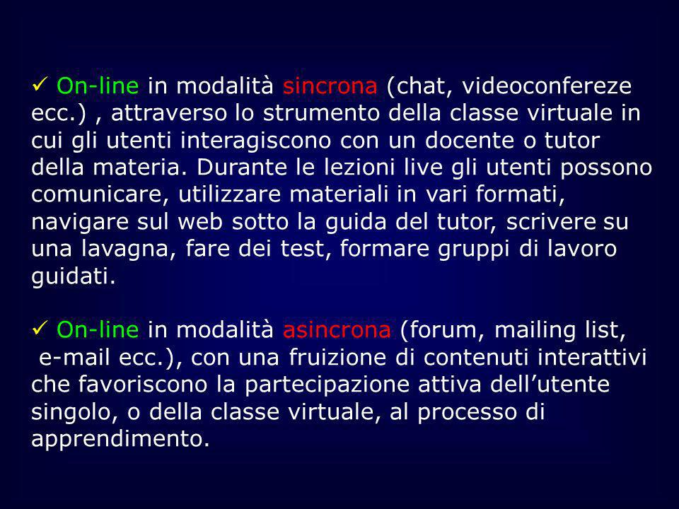 On-line in modalità asincrona (forum, mailing list,