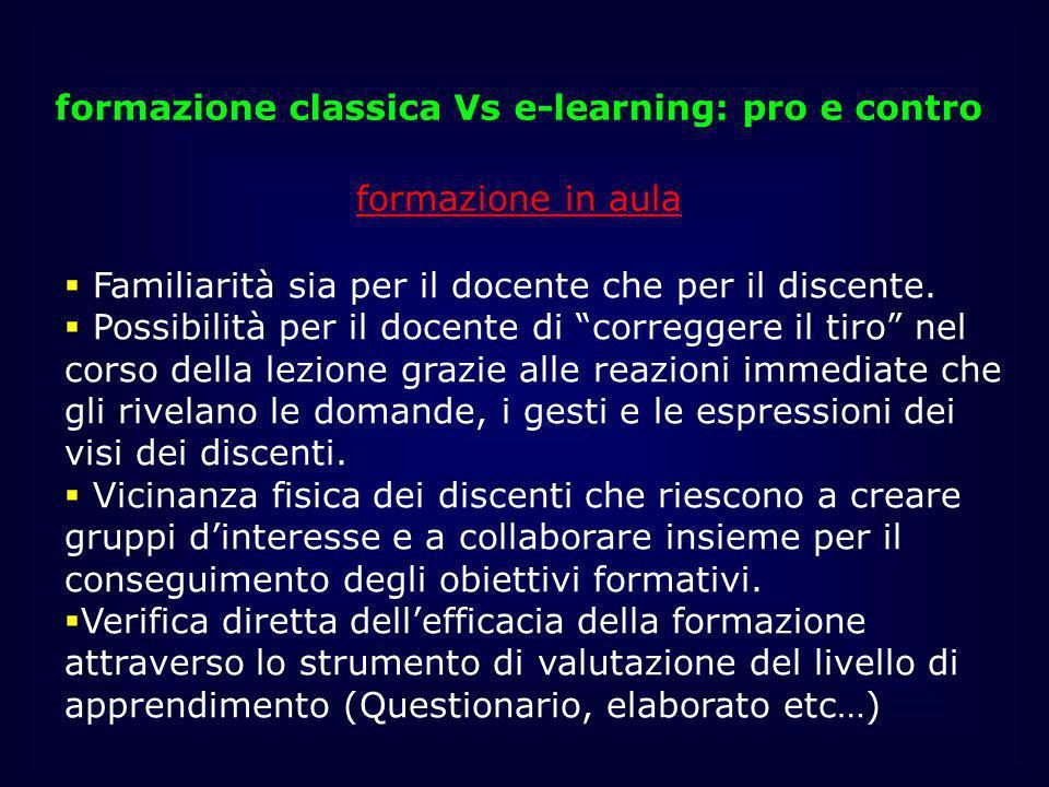 formazione classica Vs e-learning: pro e contro