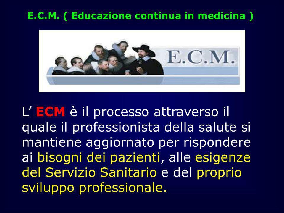 E.C.M. ( Educazione continua in medicina )