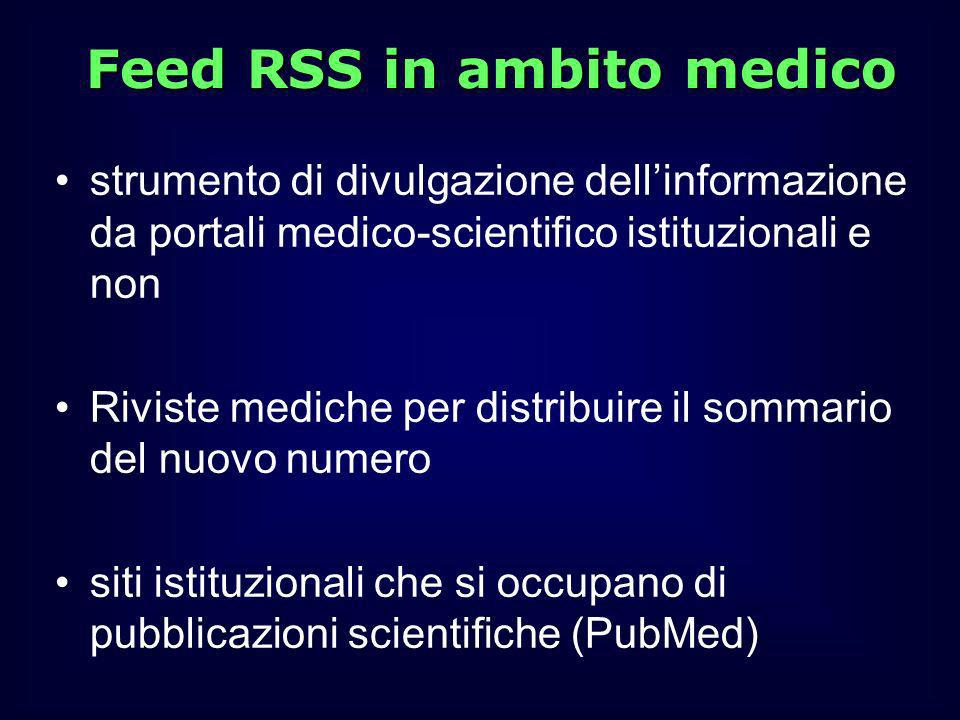 Feed RSS in ambito medico