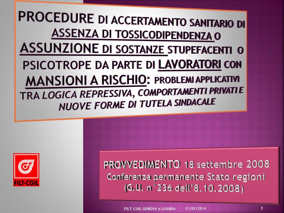 PROVVEDIMENTO 18 settembre 2008 Conferenza permanente Stato regioni