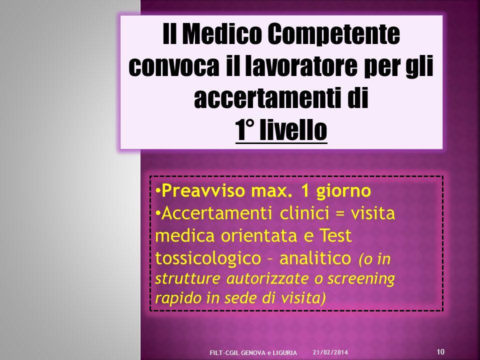 Il Medico Competente convoca il lavoratore per gli accertamenti di