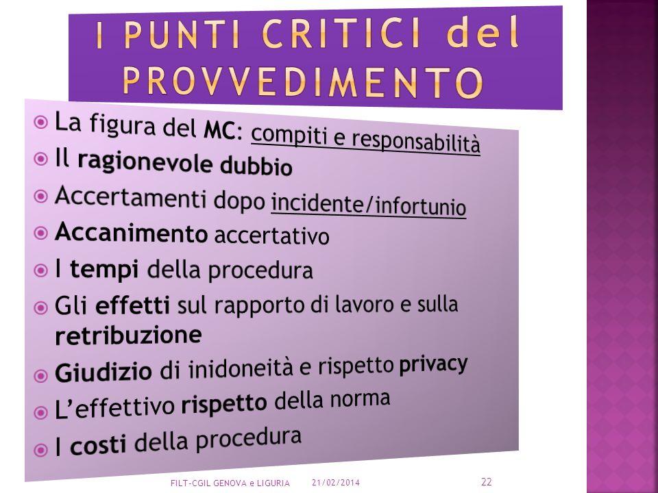 I punti critici del provvedimento