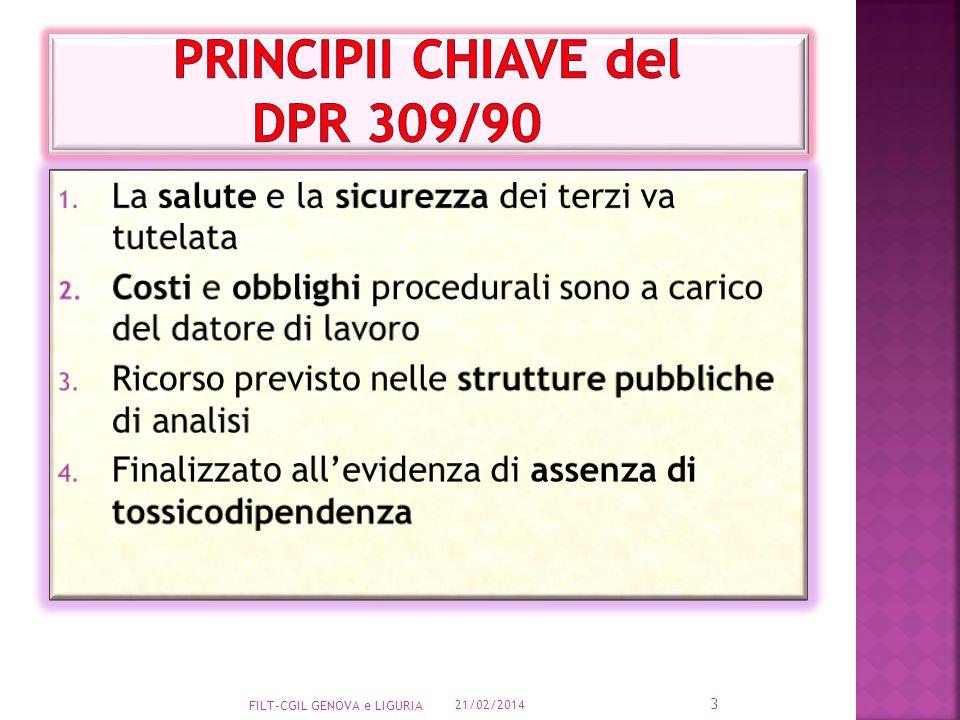 PRINCIPII CHIAVE del dpr 309/90