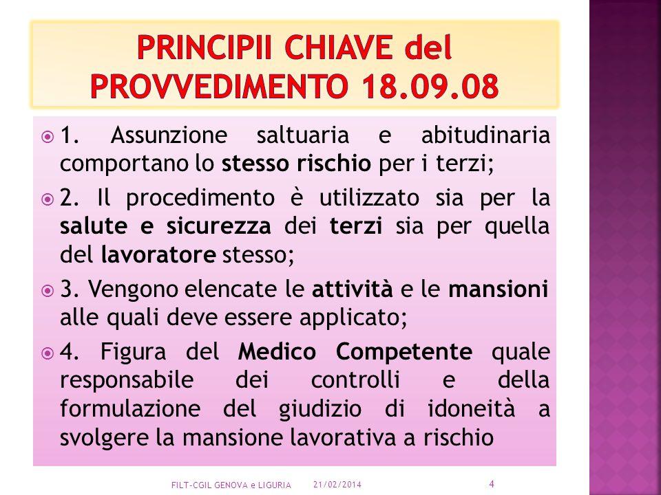 PRINCIPII CHIAVE del PROVVEDIMENTO 18.09.08