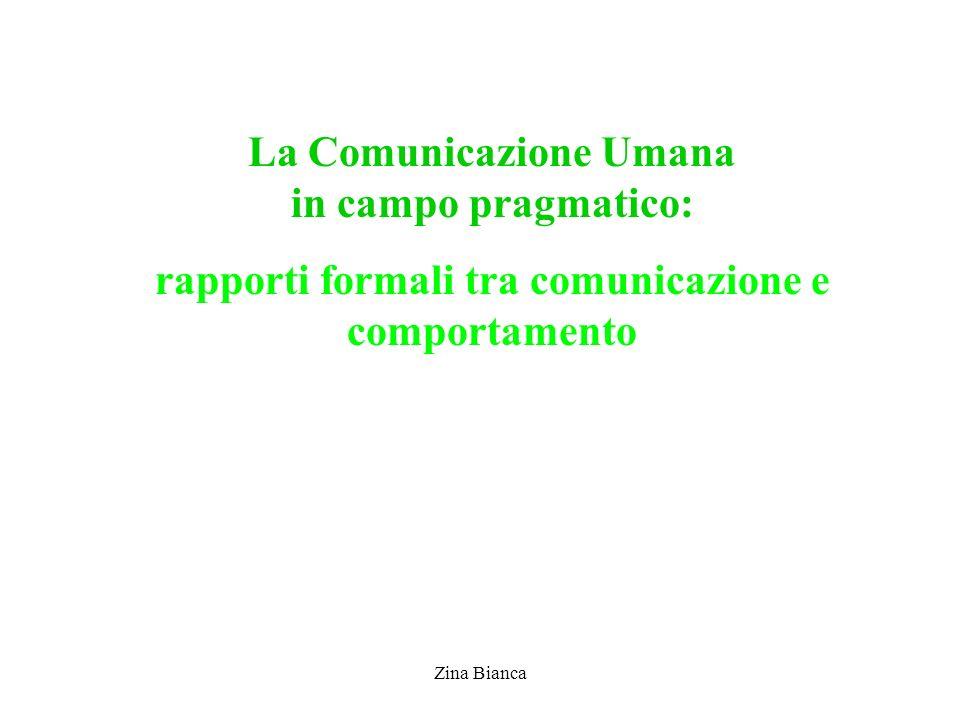 La Comunicazione Umana in campo pragmatico: