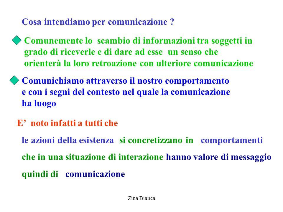 Cosa intendiamo per comunicazione