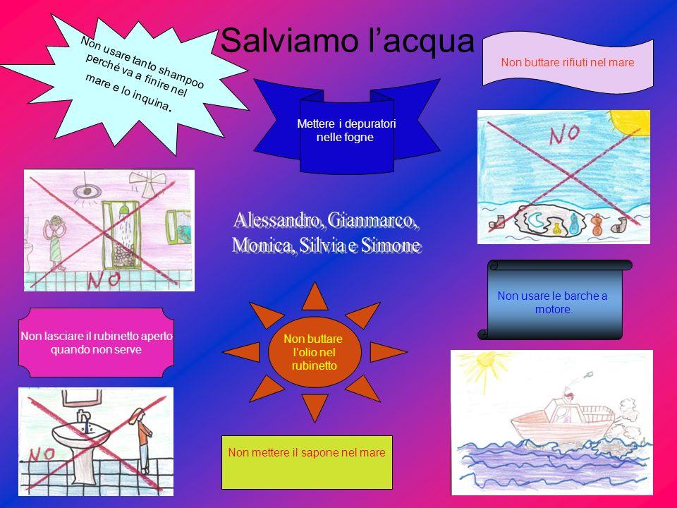Salviamo l'acqua Alessandro, Gianmarco, Monica, Silvia e Simone