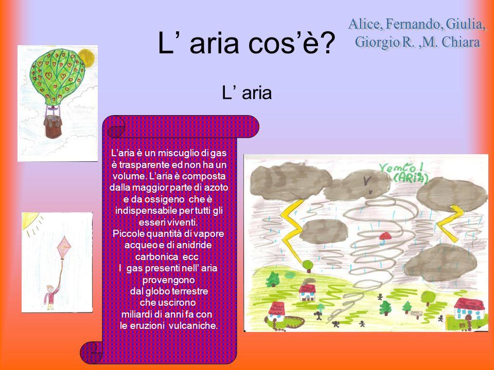 L' aria cos'è L' aria Alice, Fernando, Giulia, Giorgio R. ,M. Chiara