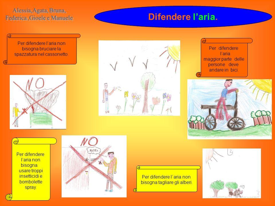 Difendere l'aria. Alessia,Agata, Bruna, Federica ,Gioele e Manuele