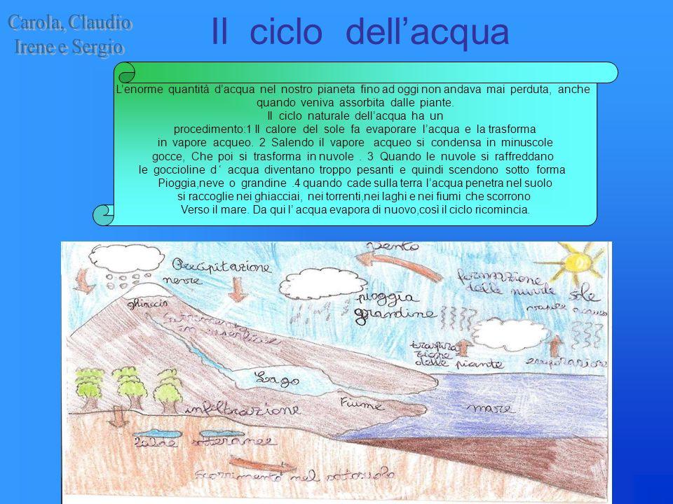 Il ciclo dell'acqua Carola, Claudio Irene e Sergio
