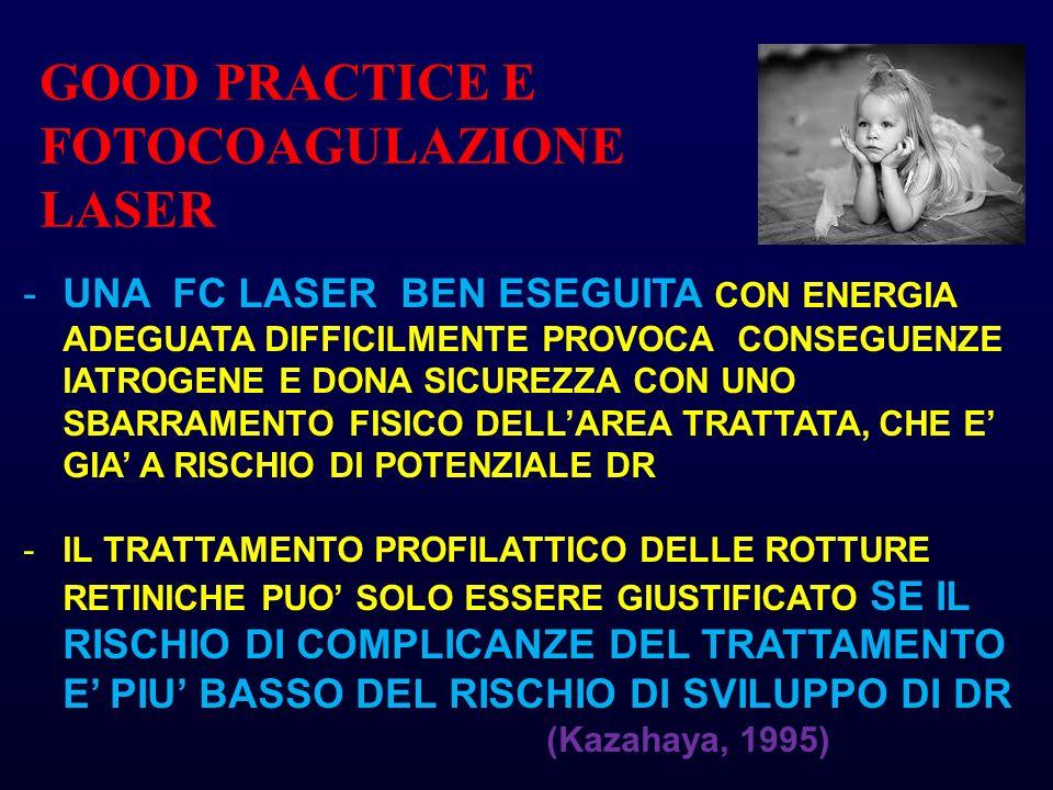 GOOD PRACTICE E FOTOCOAGULAZIONE LASER