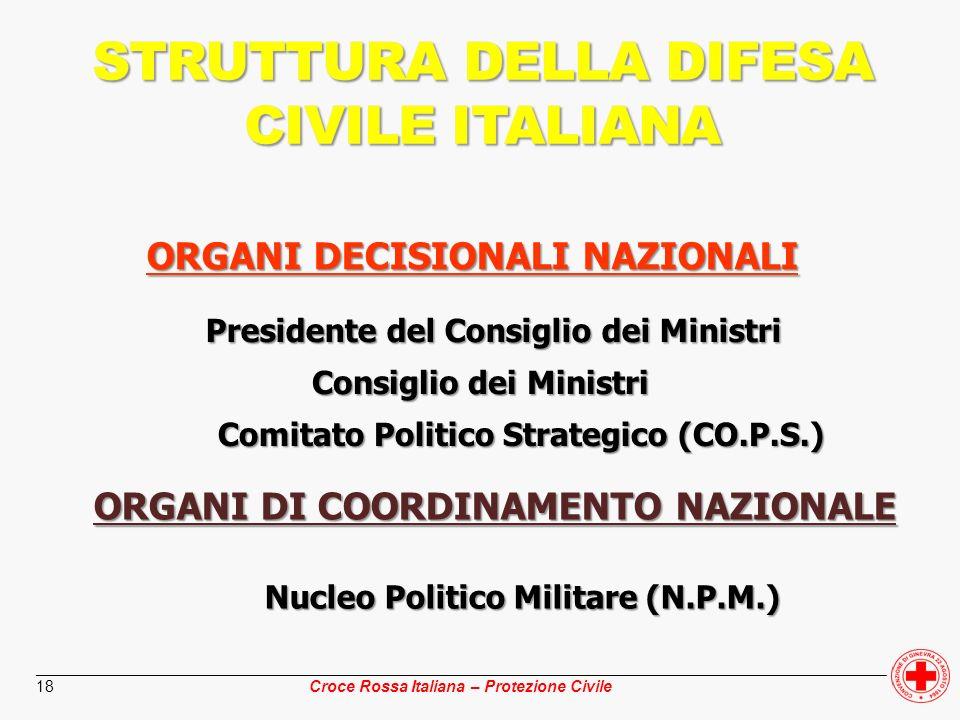 STRUTTURA DELLA DIFESA CIVILE ITALIANA