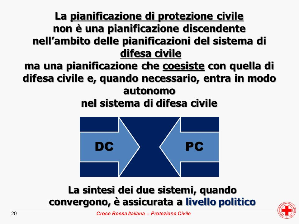 La pianificazione di protezione civile
