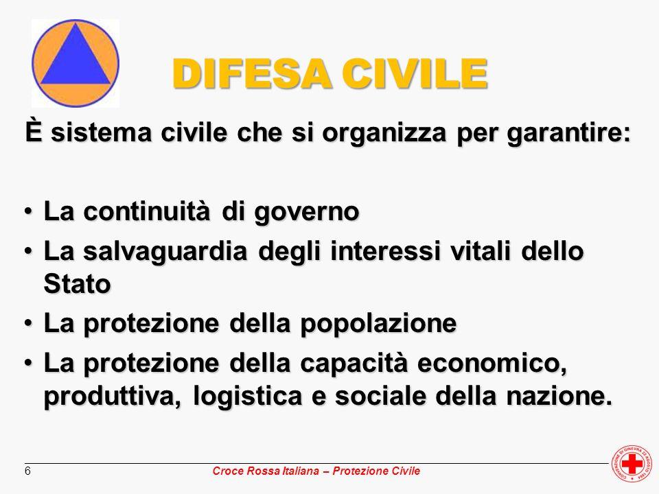 È sistema civile che si organizza per garantire: