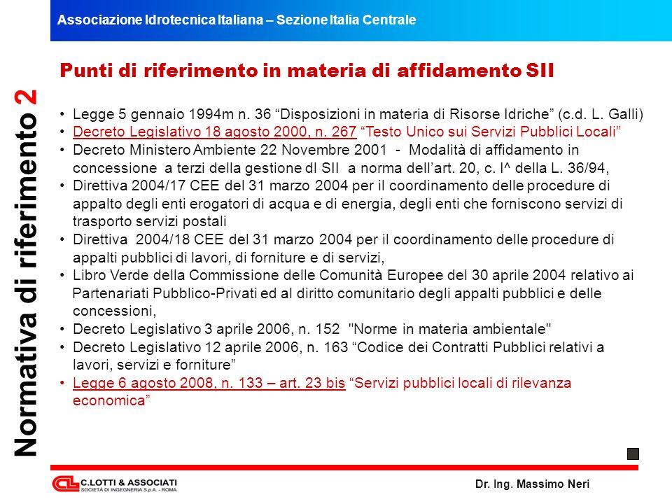 Normativa di riferimento 2