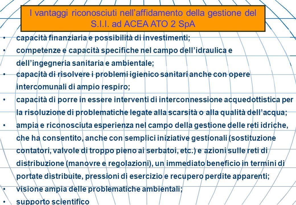 I vantaggi riconosciuti nell'affidamento della gestione del S. I. I